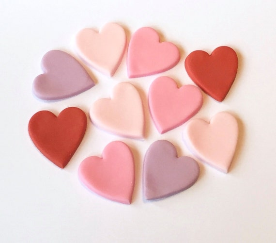 Edible Cake Decorations Hearts : Valentines Day Edible Hearts Cupcake Toppers Page Three ...