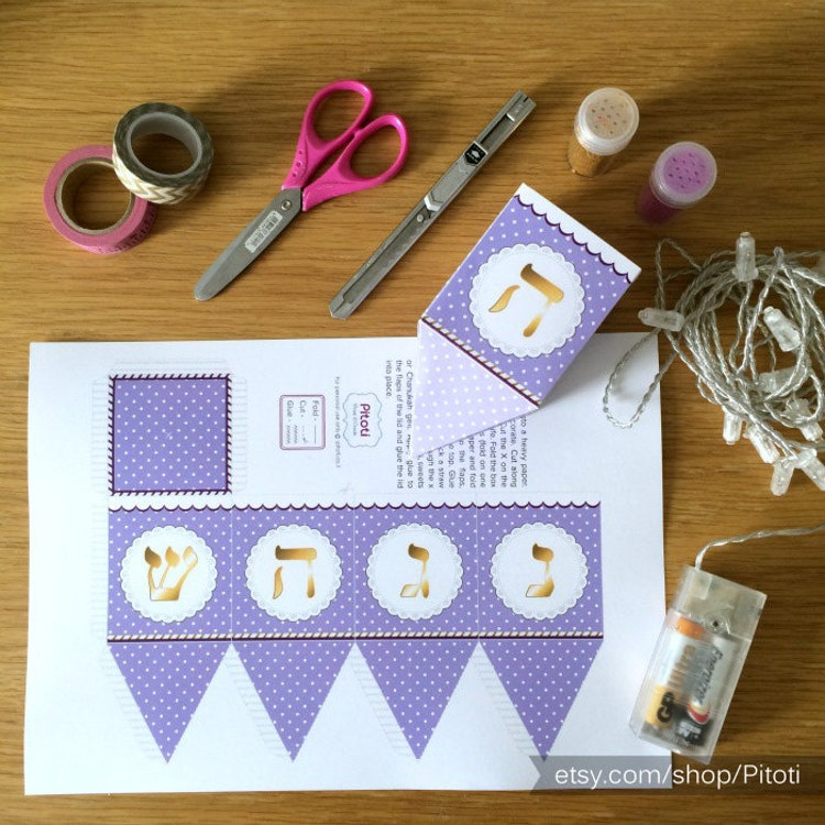 hanukkah dreidel paper craft printable dreidel template by