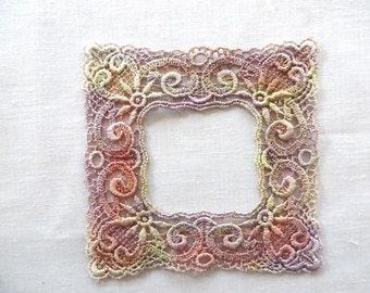 Frame Applique Hand-dyed Venise Lace 6035D