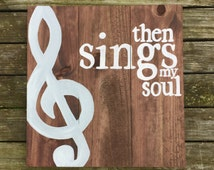 Then Sings My Soul Sign - How Great Thou Art Sign - Wooden Sign - Reclaimed Wood Sign - Hymn Sign