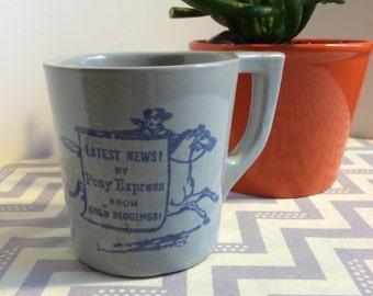 Grey Monmouth Studio Pony Express Mug