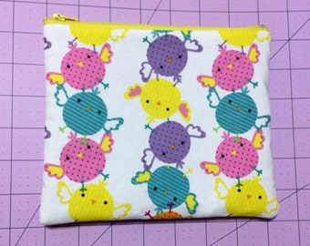 Cheerful Colorful Baby Chicks Makeup / Pencil Bag