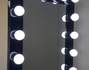 Hollywood Impact Lighted Vanity Mirror w/ LED Bulbs