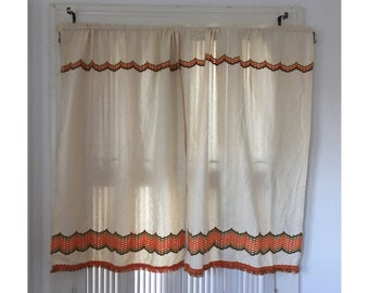 Retro Kitchen Curtains Etsy