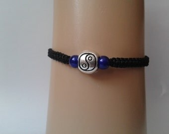 Yin Yang bracelet - tai chi bracelet - adjustable bracelet - friendship bracelet - yoga bracelet - yoga jewelry - meditation jewelry