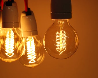 Large Globe Radio Spiral Filament Vintage Edison Light Bulb | E27 es screw | 40w