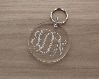 Engraved Acrylic Keychain