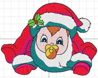 baby Christmas machine embroidery