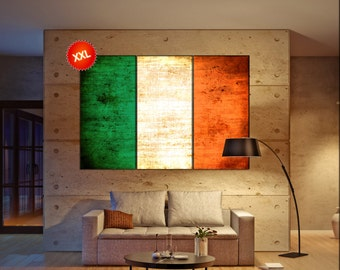 Ireland flag canvas art print large wall art canvas print Ireland country flag Wall Home office decor interior Office Decor