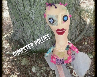 Dumpster Dollies, OOAK Art Doll, Horror Doll, Voodoo Doll, Primitive Ugly Doll