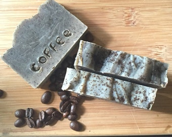 Handmade Cellulite exfoliating coffee soap. Natural and Organic