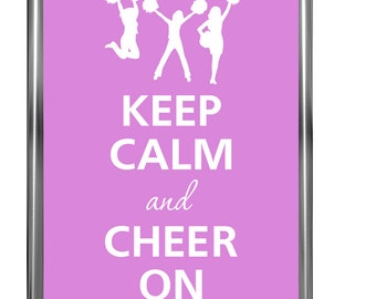 Keep calm and cheer on -Art Print - Keep Calm Art -  Prints - Posters - Motivational quotes - Poster Keep