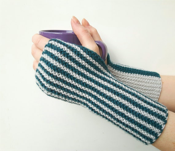 Long Arm Warmers Knitting Pattern : Knit hand warmers knitted arm warmers hand knit by SoftKnitsHome