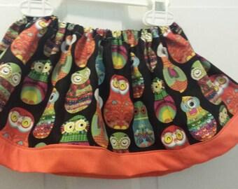 Size 6-12 months owl skirt.