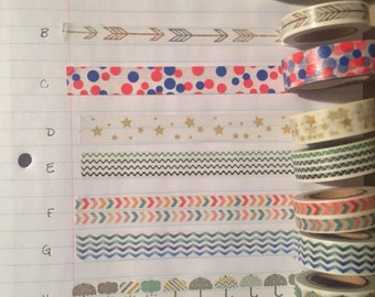 Washi Tape (full rolls)
