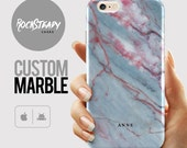 personalized marble phone case iPhone 6s Plus 6 SE 5S 5C personalised gift Samsung Galaxy S7 S6 S5 S4 custom name phone case UK