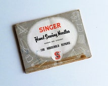 Singer Hand Sewing Needles, A Needle for Every Purpose in Original Packet by the Singer Sewing Machine Co for Household Repair Curved Carpet