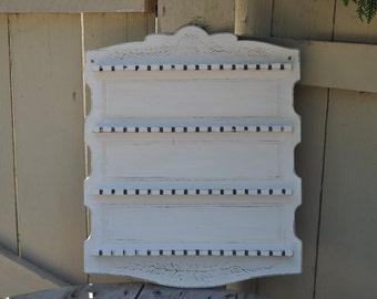 Antique White Rustic Spoon Rack