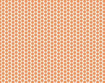 Riley Blake Designs Orange Honeycomb Dot Reversed