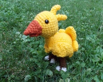Amugurumi Chocobo. Final Fantasy Stuffed Animal. Made to Order.