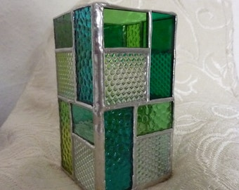 stained glass box, pen holder