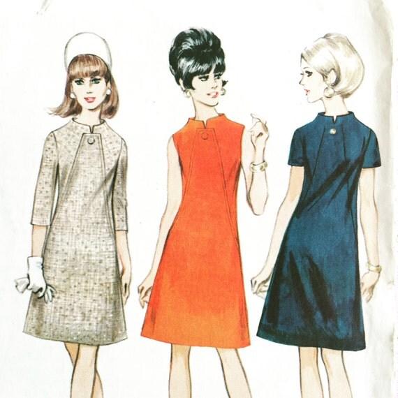 1960 39 s a line dress vintage sewing pattern. Black Bedroom Furniture Sets. Home Design Ideas