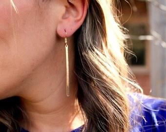 Buy 2 Get 1 FREE, Silver/Gold Earrings, Silver Bar Earring Earrings, Silver Bar Earrings, Long Dangle Earrings, Minimalist Earrings