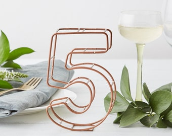 Wire Table Numbers - Table number set - Gold table numbers - unique table numbers - table numbers silver - number numbers - numbers