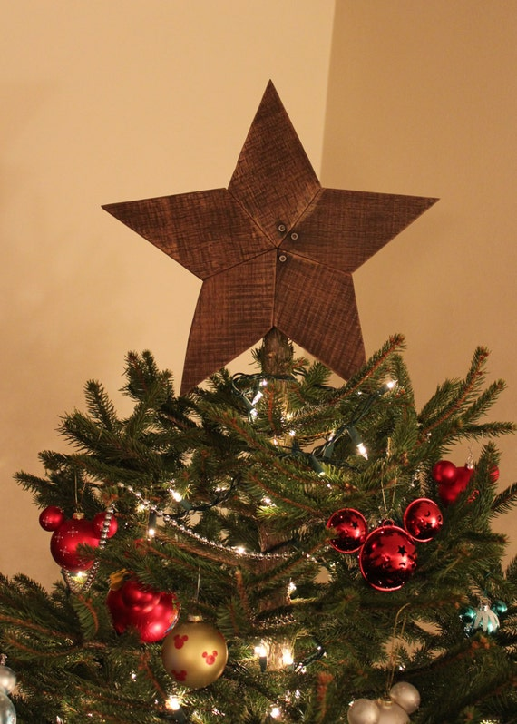 Rustic Reclaimed Wooden Star Tree Topper