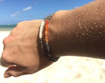 Pyrite Bracelet Carnelian Delicate Bracelet Crystal Jewelry Raw Natural Stones Gold Filled Handmade Bracelet Gold Bracelet Gift Idea