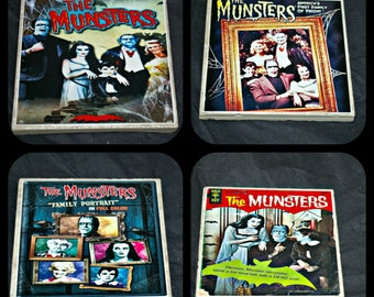 Munsters Coasters - The Munsters Coasters - Halloween Coasters - The Munsters TV show - The Munsters - Tile Coasters - Coasters