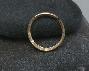 14k gold filled septum ring,hammered septum piercing ring,tiny septum ring,nose septum ring,septum ring,septum 20g,septum 18g,septum 16gauge