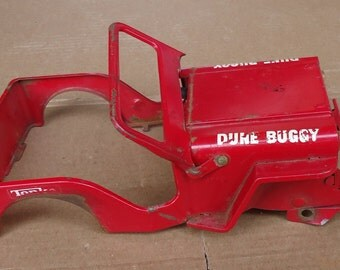 Tonka jeep toys Dune Buggy,vintage red metal jeep,toy vehicle Body Shell part,shelf display decor