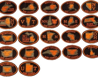 """State Ruffed Grouse """"Ruff Country"""" Upland Hunting Patches"""