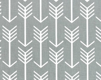 Premier Prints Arrows Cool Gray Fabric- Canvas - sold by the 1/2 yard