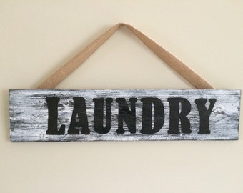 Distressed Laundry Sign Laundry Organizer  Etsy