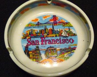 Collectible San Fransisco ceramic ashtray, Vintage
