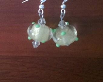 Yellow Lampwork Earrings