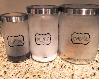 Pantry labels/Canister labels/Kitchen labels/Kitchen Canister labels/Pantry Organization