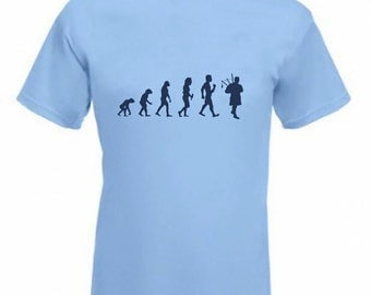 Evolution To Bagpiper t-shirt Funny Bagpipes  T-shirt sizes Sm TO 2XXL