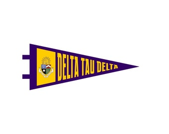 Delta Tau Delta Pennant Decal