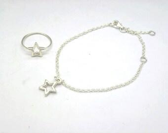 Bracelet with little star charm