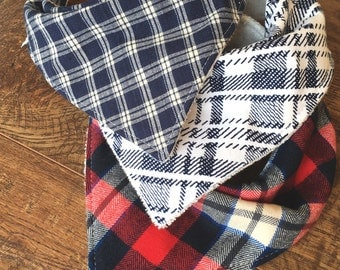 Baby boy bib baby boy gift boy Bandana Bib bib for boy plaid bib baby bib Organic Bamboo flannel Bib boy Drool Bib baby shower gift boy