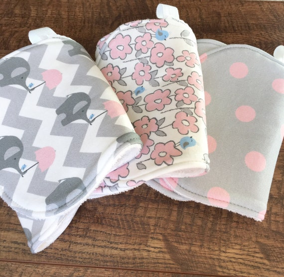 Baby Gift Organic : Baby gift organic burp cloth girl