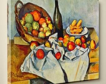 """Paul Cézanne's """"The Basket of Apples"""" (11"""" x 14"""") - Canvas Wrap Print"""