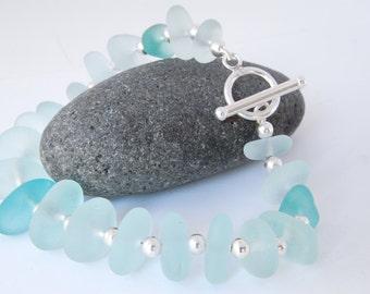 Sea Glass Bracelet  | Sea Glass Jewellery | Handmade, Sterling Silver | Genuine Sea Glass Jewelry