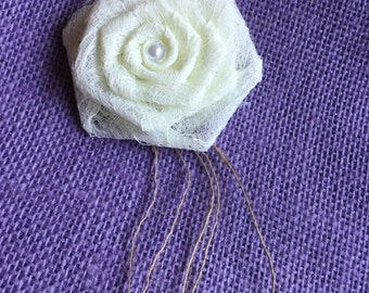 Delicate All Lace Rose Flowers With Burlap String Spray Purchase Per Piece Wedding Venue Table Decor