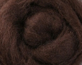 Chocolate Corriedale Wool Roving One Ounce for Felting and Spinning