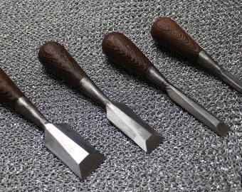 Small Butt Palm Chisel Set For Fine Woodworking Wenge