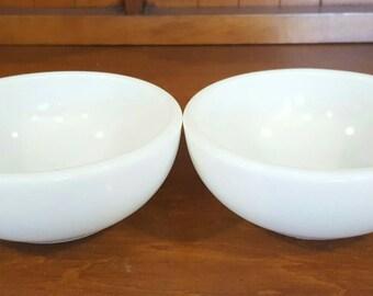 White Pyrex Cereal Desert Bowls